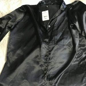 Satin sleep shirt